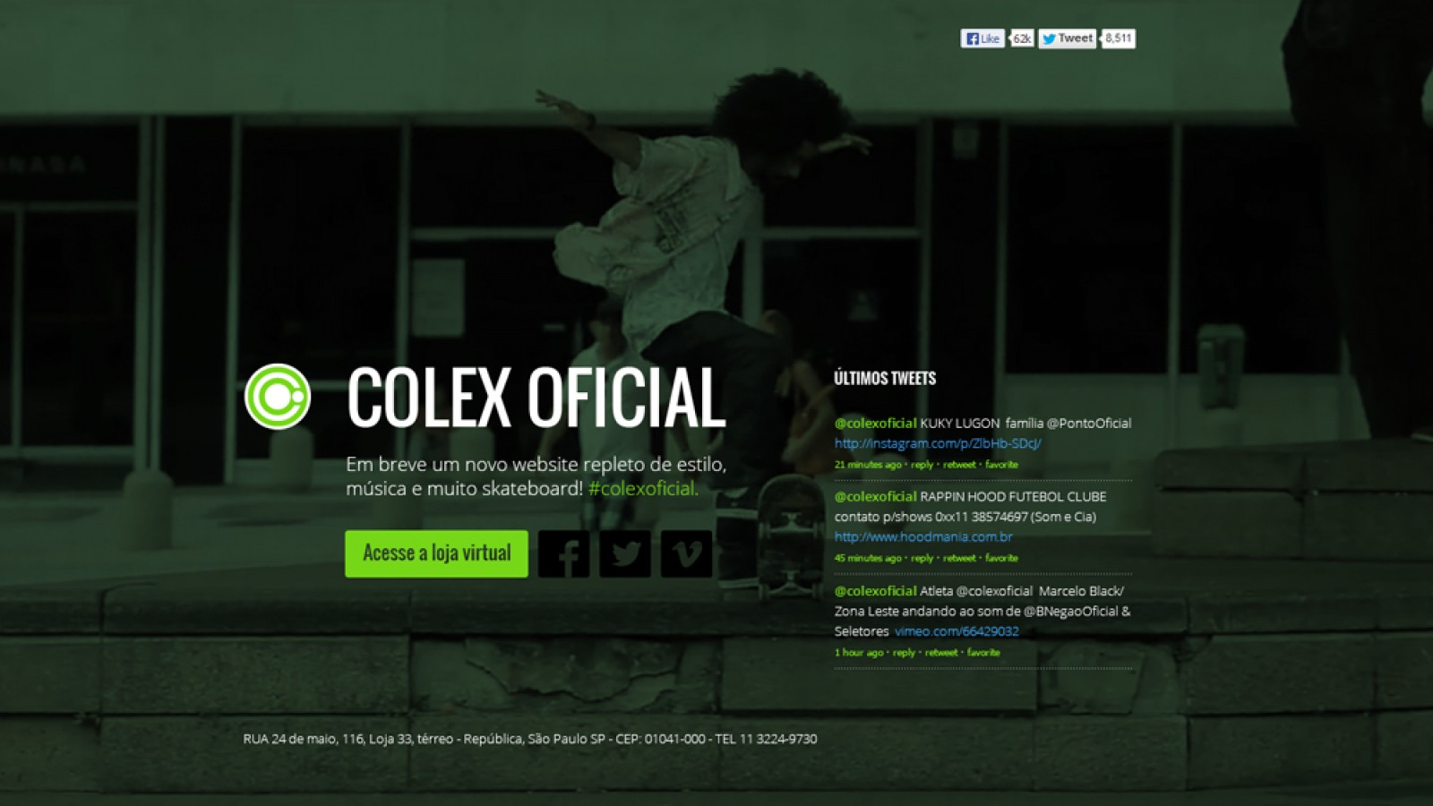 Landing page - Colex
